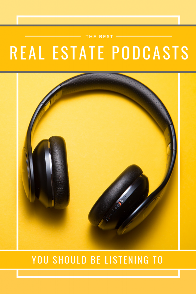 The Best Real Estate Podcasts pinterest image.