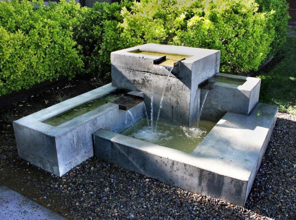 Image of a Pinterest modern gardens water feature.