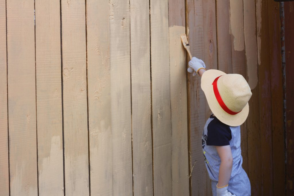 Image of another modern garden idea: Painting your fence